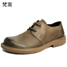 Genuine Leather shoes men Lace-Up Business Men Shoes,Men Dress leisure cowhide spring casual natural leather loafers