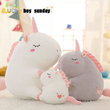 unicorn plush toy fat unicorn doll cute animal stuffed unicornio soft pillow baby kids toys for girl birthday christmas gift(China)