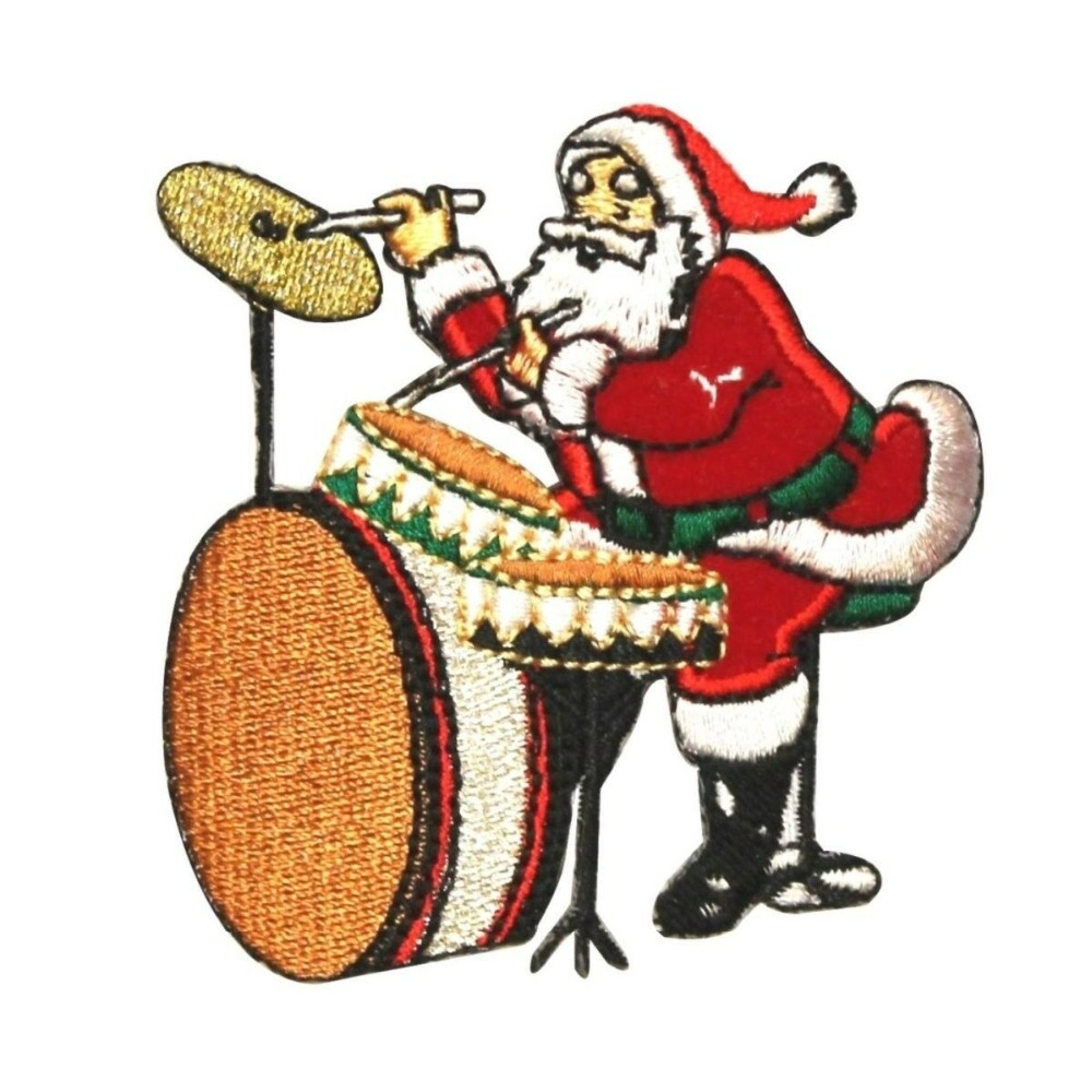 Custom Embroidered patches  Christmas Music iron on patch for cloth Welcome to customize your own