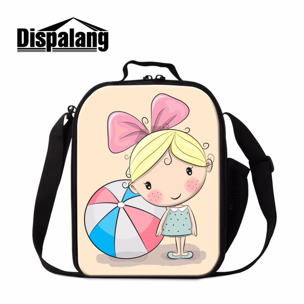 Dispalang Cartoon Lunch Bag for Girls Baby Insulated Cooler Bag Kids School Lunch Container Cute Messenger Lunch Carries for Boy