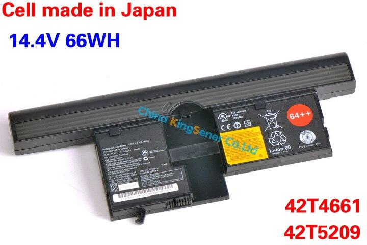 ФОТО 14.4V 66WH 8Cell Original Genuine New Laptop Battery for Lenovo ThinkPad IBM X60T X61T Series PC FRU P/N 42T4661 ASM P/N 42T5209