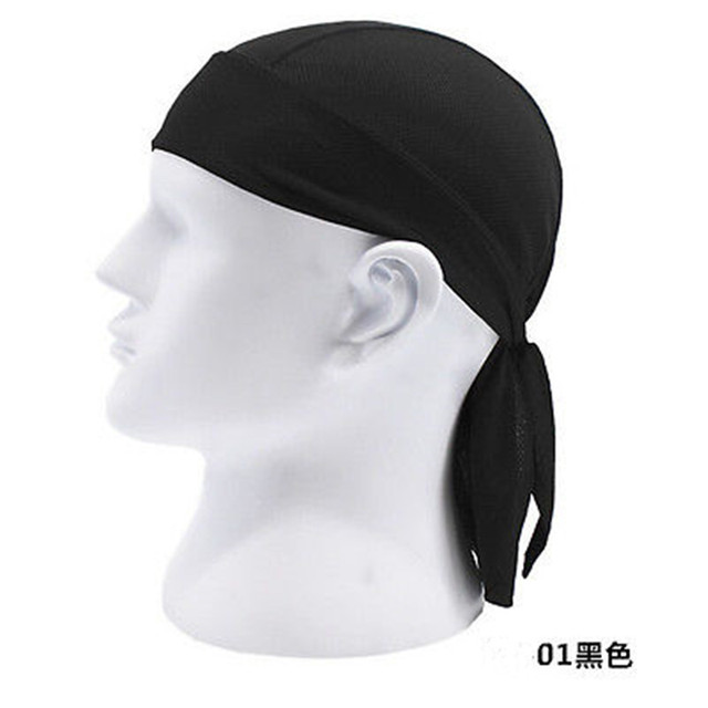 Quick Dry Pure Cap Head Scarf Summer Men Bandana Headscarf Pirate Hat Hood  Headband 12 Color 5f31b1959eb