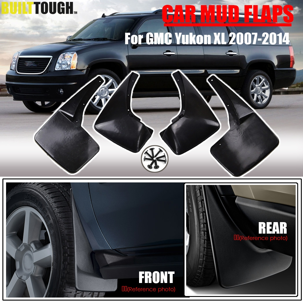 Set Molded Mud Flaps For GMC Yukon XL 2007 2014 Splash Guards Mudguards Mudflaps 2008 2009