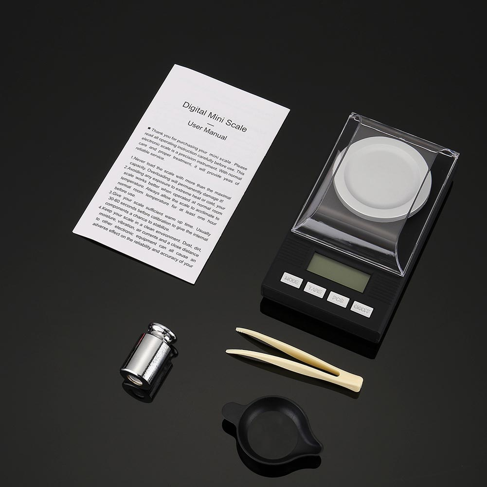 Digital Milligram Scale 20/50/100g x 0.001g Reloading Jewelry Digital Weighing Scales Tool MDJ998