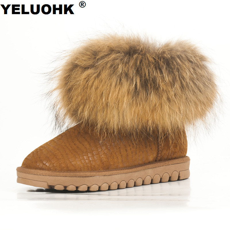 2017 New Women Winter Boots Warm Fur Furry Lady Snow Boots Plush Ugs Australia Boots Women Shoes Platform Ankle Boots For Women australia classic lady shoes high quality waterproof genuine leather snow boots fur winter boots warm classic women ug boots