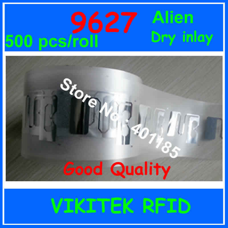 Alien authoried 9627 UHF RFID inlay 500pcs per roll 860-960MHZ Higgs3 915M EPC C1G2 ISO18000-6C can be used to RFID tag label holika holika holipop bb cream glow бб крем с эффектом сияния 30 мл
