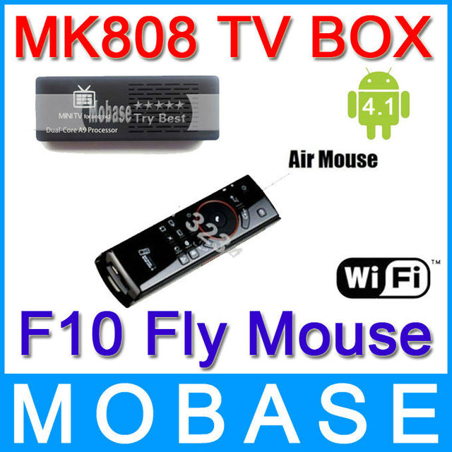 MELE F10 Wireless Keyboard Mouse Remote Control with MK808 Android 4.1 Jelly Bean Mini PC RK3066 A9 Dual Core Stick TV Box