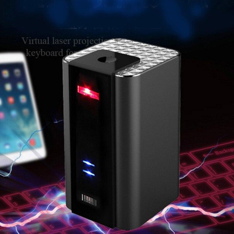 Clavier Laser virtuel Bluetooth Projecteur android Téléphone Et Souris Laser Clavier Sans Fil De Projection Laser Clavier F1