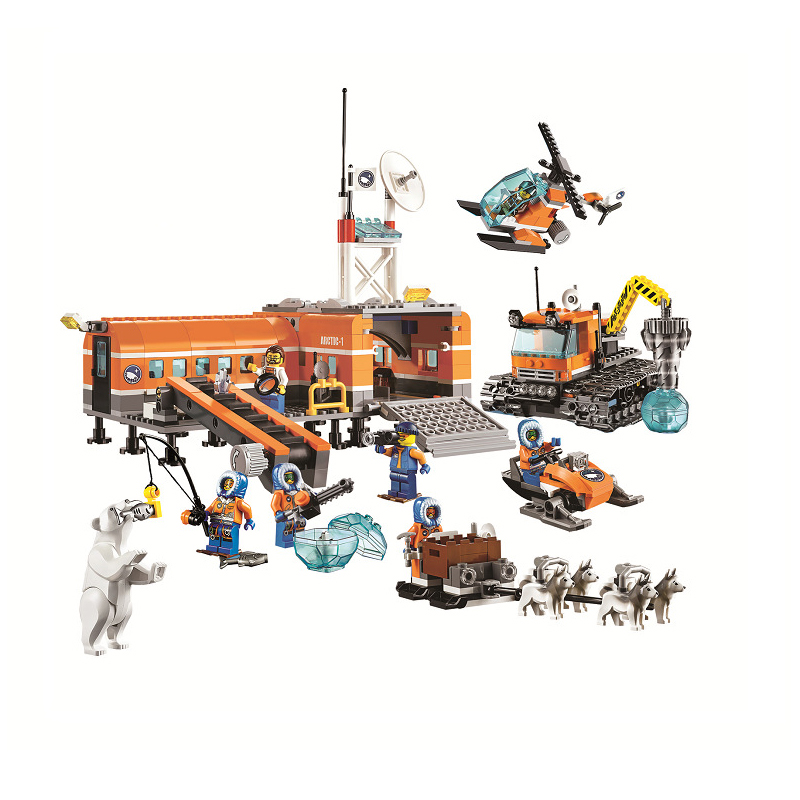 Bela 10442 City Arctic Base Camp Model building kits city 3D blocks Educational toys compatible with 60036 hobbies for children compatible city lepin 02005 889pcs the volcano exploration base 02005 building blocks policeman educational toys for children