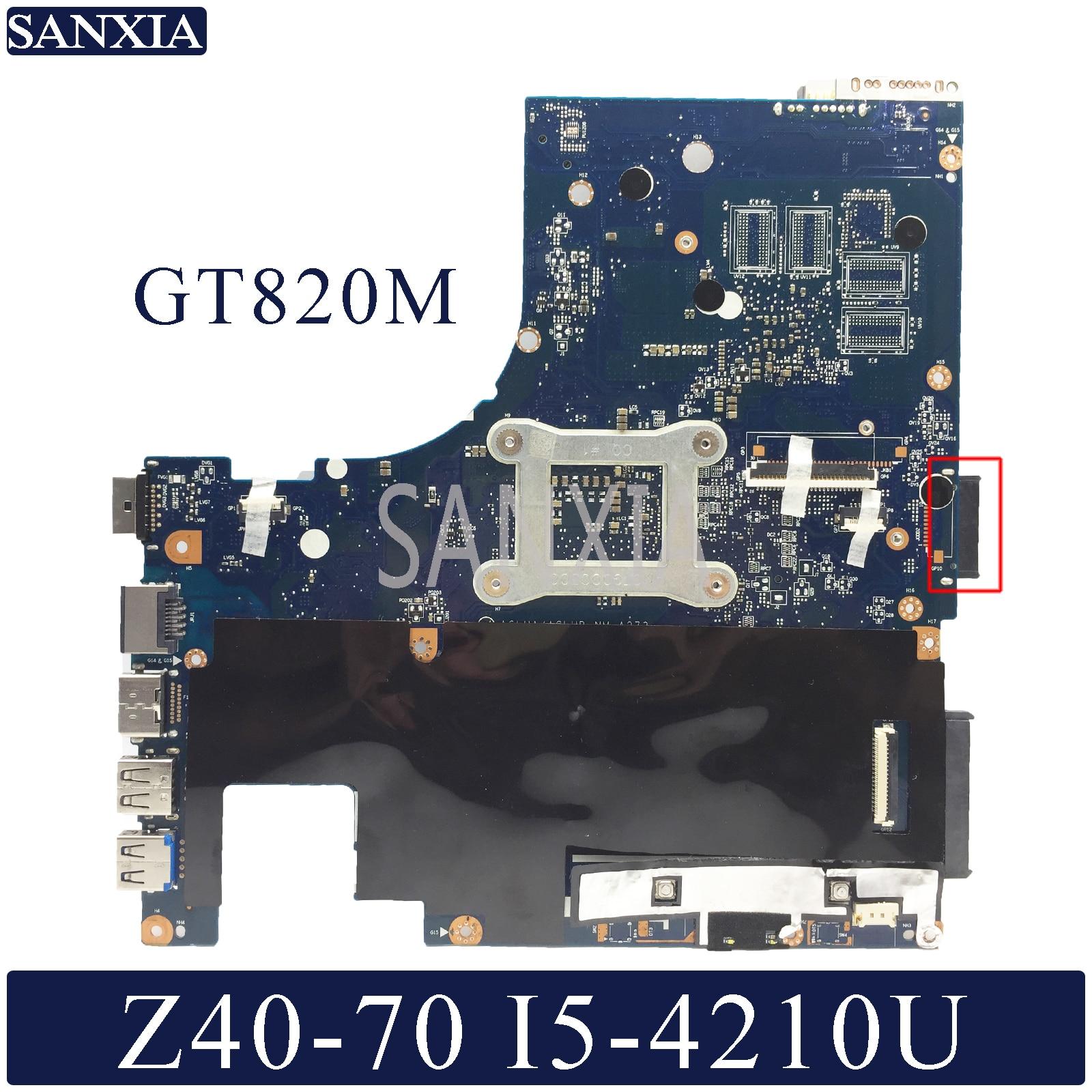 KEFU NM-A273 Laptop Motherboard For Lenovo Z40-70 Original Mainboard I5-4210U GT820M
