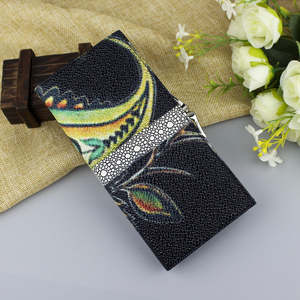 Image 5 - High Quality Genuine Leather Women Wallet Long Fashion Flower Purse Female Clutch Ladies Real Leather Wallet Big Capacity Wallet