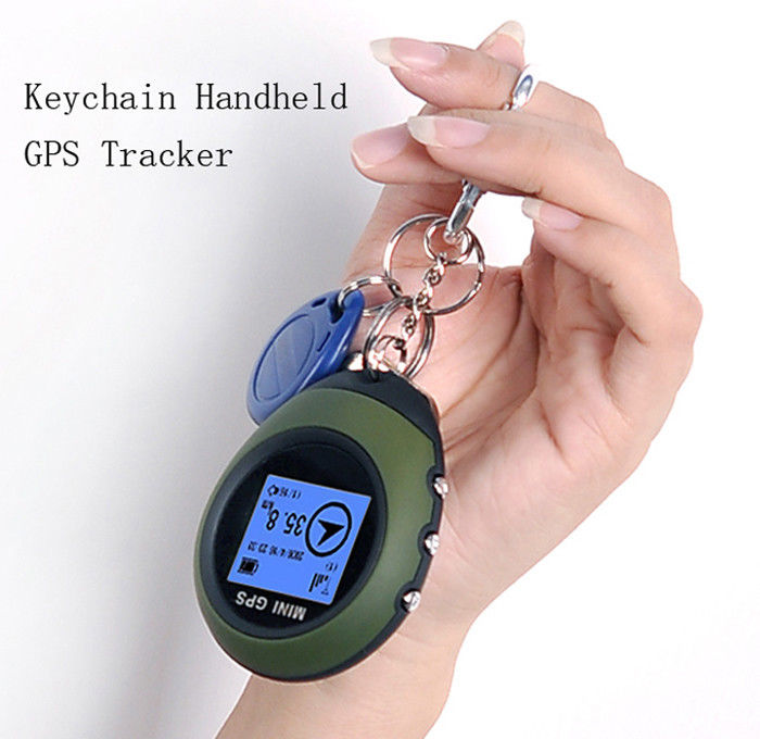 APRICOTCAR CAR Vehicle Sport Handheld Keychain Mini GPS Tracker Tracking Device Travel Portable Keychain Locator Pathfinding