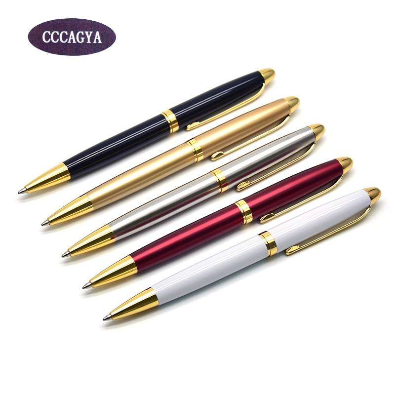 CCCAGYA A100 metall Kulspenna 5 färg Lär dig kontorspapper Gåva lyx penna & hotellbranschen Skrivmaterial 424 G2 penna
