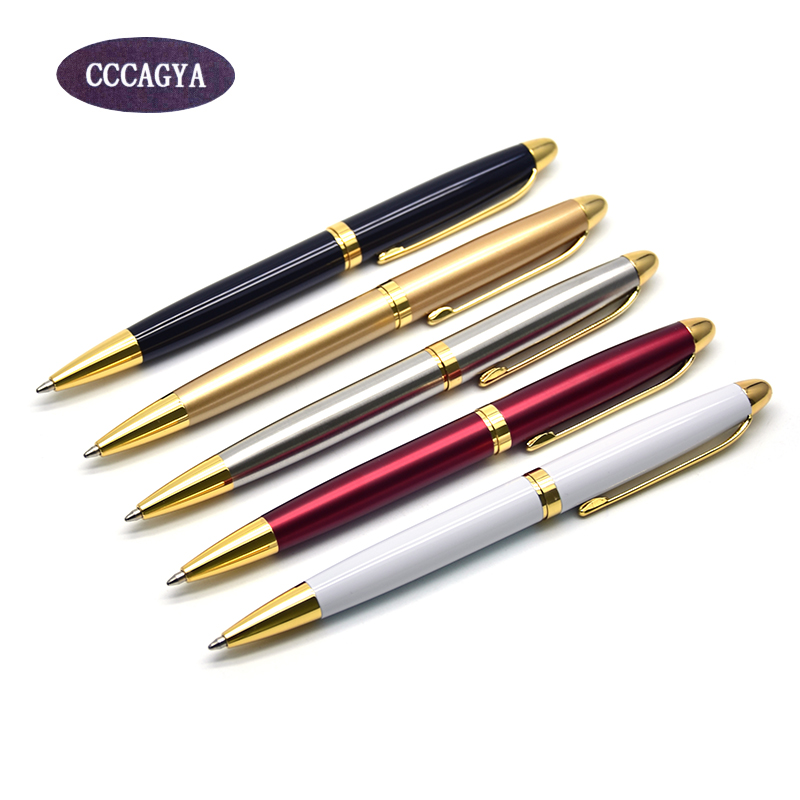 CCCAGYA A100 โลหะปากกาลูกลื่น 5 สีเรียนรู้สำนักงานเครื่องเขียนของขวัญหรูหราปากกาและโรงแรมธุรกิจเขียนซัพพลาย 424 G2 ปากกา