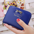New Top Brand Fashion Zipper PU Leather Coin Card Holder Photo Holders Women Purse Wallet Female Purses short Wallets for ladies
