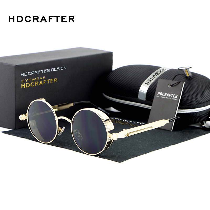 Hot New Vintage Round Metal Steampunk Sunglass Women Brand Designer Metal Sun Glasses Driving Men 1aE4NGlzxy