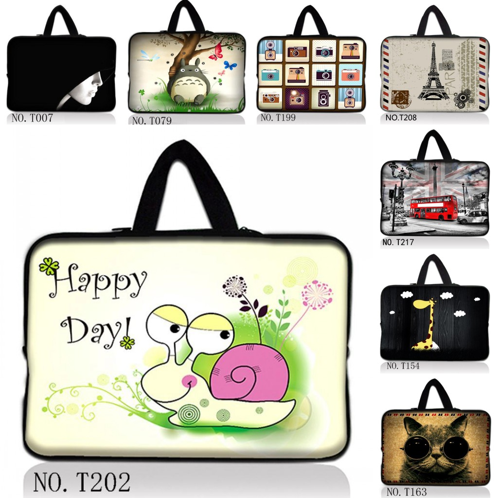 Many Desings 14 Laptop Sleeve Case Bag Cover +Handle For Sony VAIO/CW/CS/HP Dell Acer