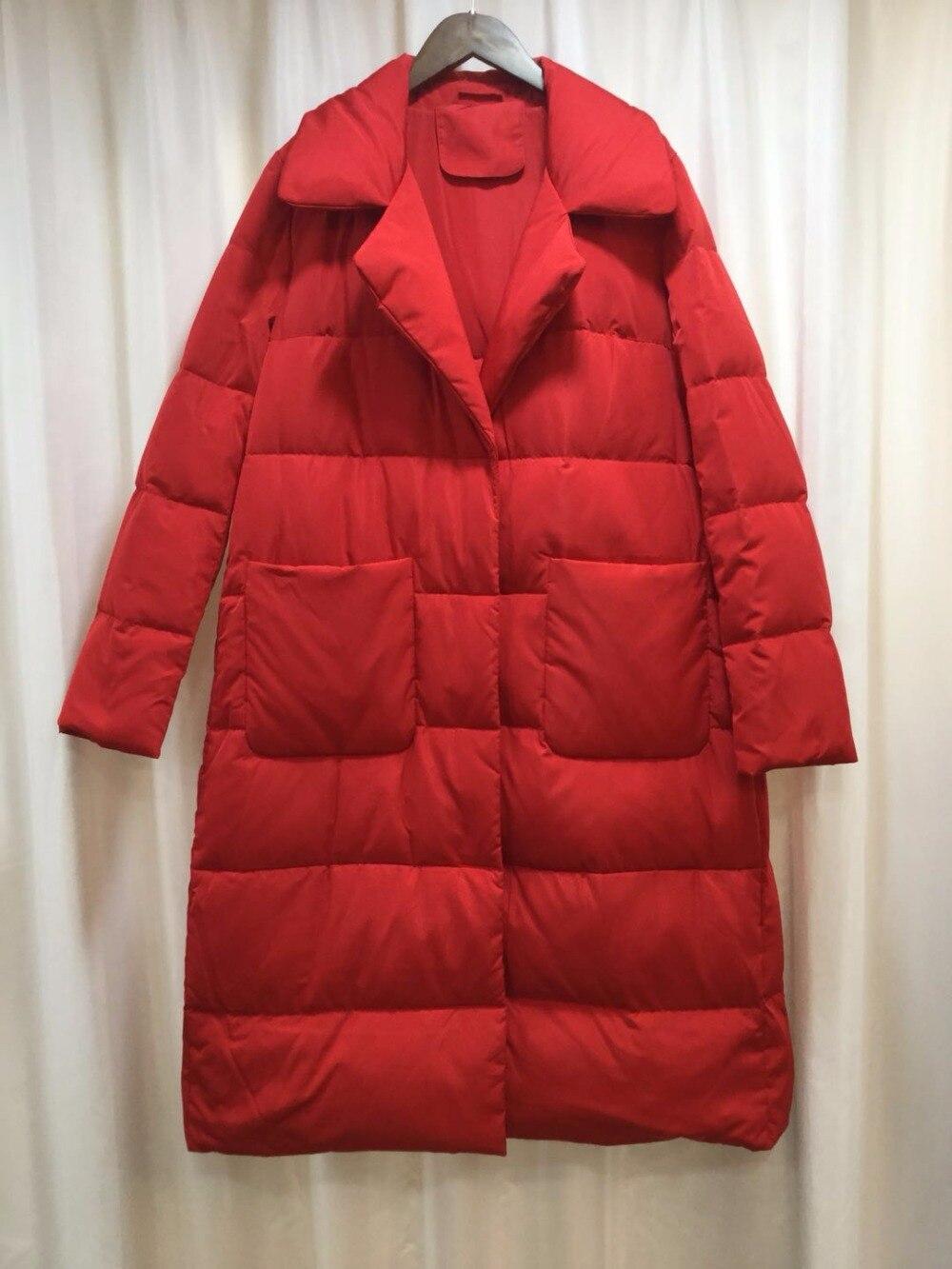2019 moda de marca 100% pato blanco abajo grueso de abrigo parkas abrigo femenino traje Cuello estilo de capa chaqueta de abrigo largo de plumas wq75
