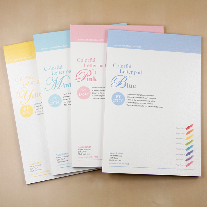 Letter Pad stationery I love you multicolor letter Writing paper 63 sheets/set Korean stationery