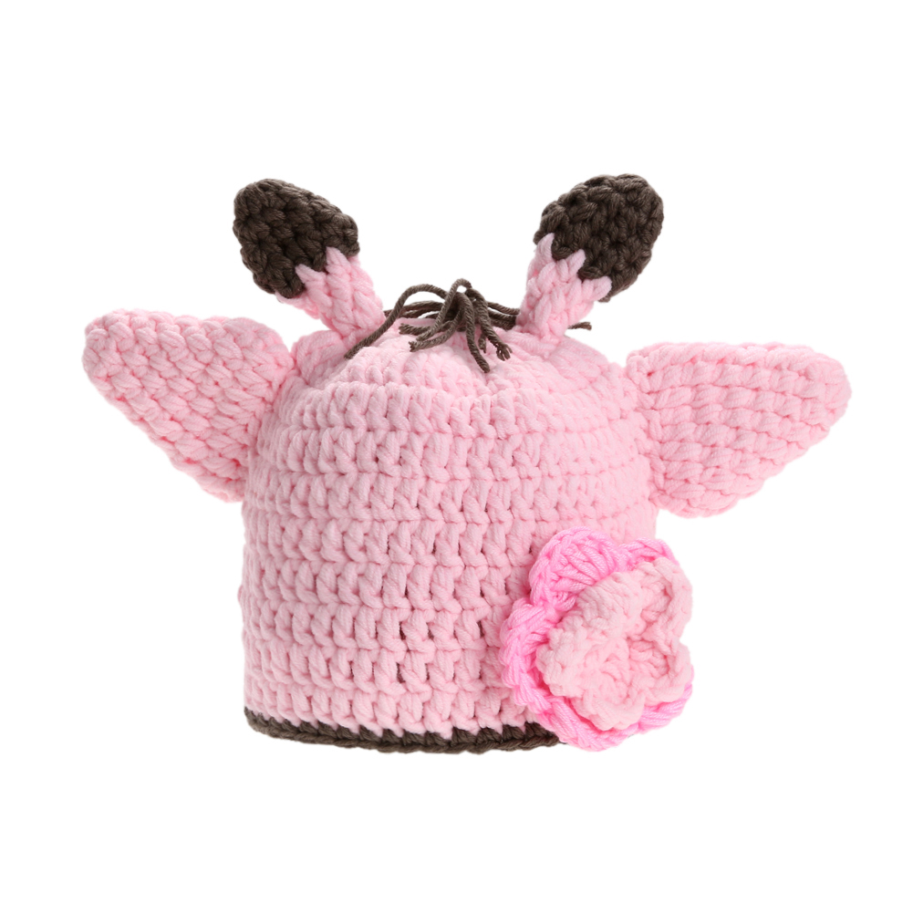 Girls Boys Beanies Hats Cotton Newborn Baby Infants Cute Winter Crochet Knitted Hat Cap Photography Props