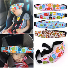 2018 New Child Car Safety Seat Head Fixing Auxiliary Cotton Belt Pram Secure Strap Doze Band for Baby Pram Child Safety Seat(China)