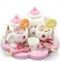 Nuevo juguete de madera fresa juguete del bebé de madera juguetes de té Simulaiton regalo del bebé de juguete