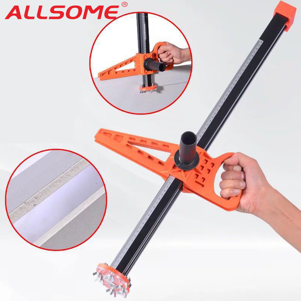 ALLSOME Manual Portable Stainless Steel Gypsum Board Cutter Hand Push Cutting Hand Tool with Double Blade and 4 Bearings GT044ALLSOME Manual Portable Stainless Steel Gypsum Board Cutter Hand Push Cutting Hand Tool with Double Blade and 4 Bearings GT044