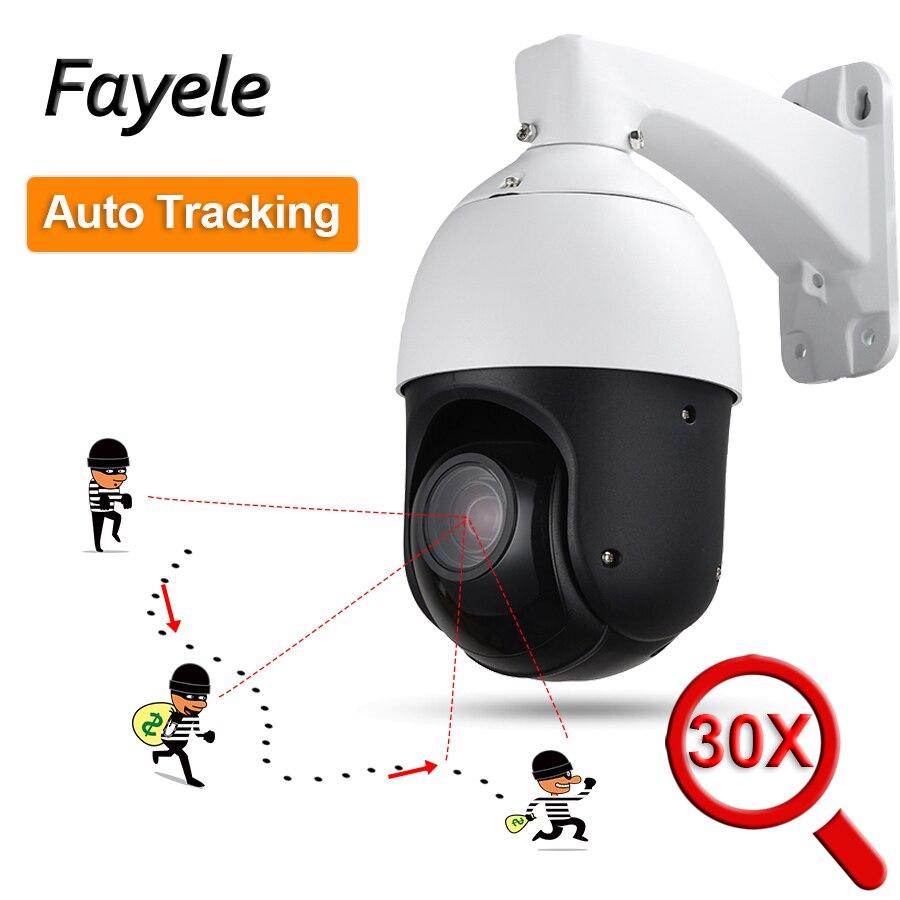 IP66 2MP Auto Tracking PTZ Câmera de CCTV Ao Ar Livre Pessoa Detectar Humanóide Reconhecimento H.265 30X ZOOM IP Câmera IR Auto Rastreador ONVIF