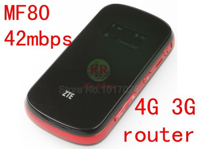 unlocked ZTE MF80 3g  router 42mbps mobile hotspot 3g 850/2100mhz 3g mifi dongle 3g wifi package router pk mf60 mf90 mf61 mf855