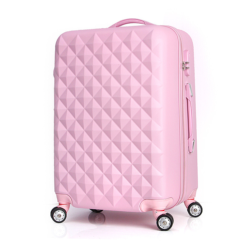 ФОТО Hot Sale Unisex Rolling Luggage Solid Color Travel Suitcase Password Valise Boarding Suitcase Travel Box