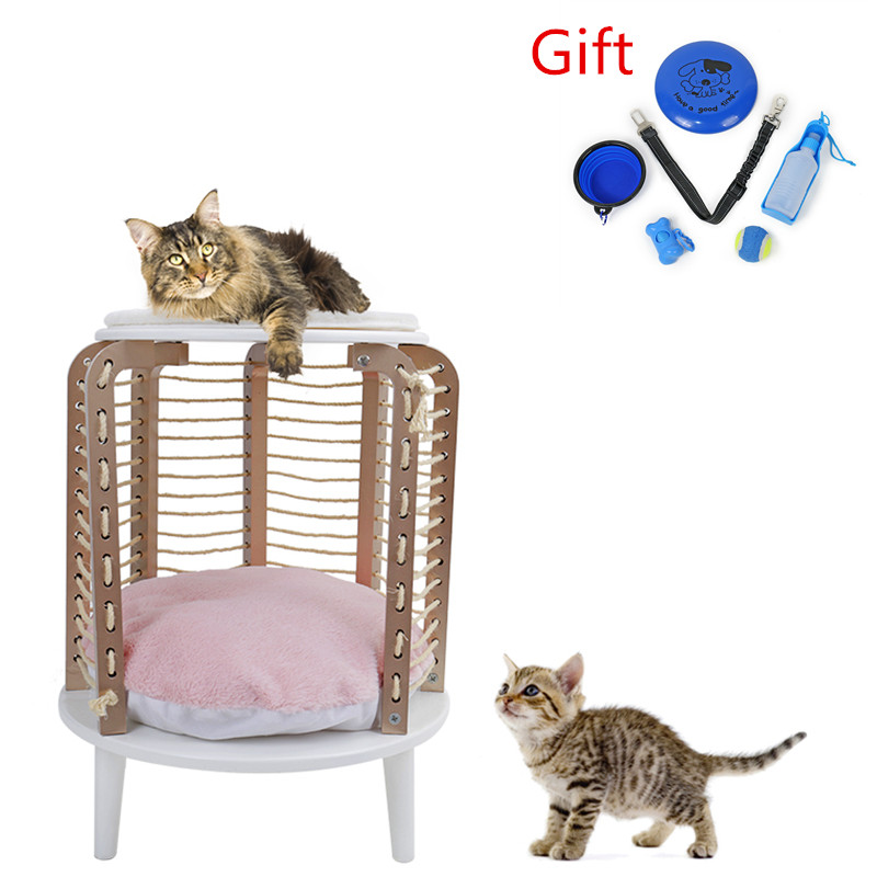 NEW Pink Sweet Home for Cat Furniture Style Fashion Design Cat Tree Height 66CM Cat Products Girl Heart WJ0413