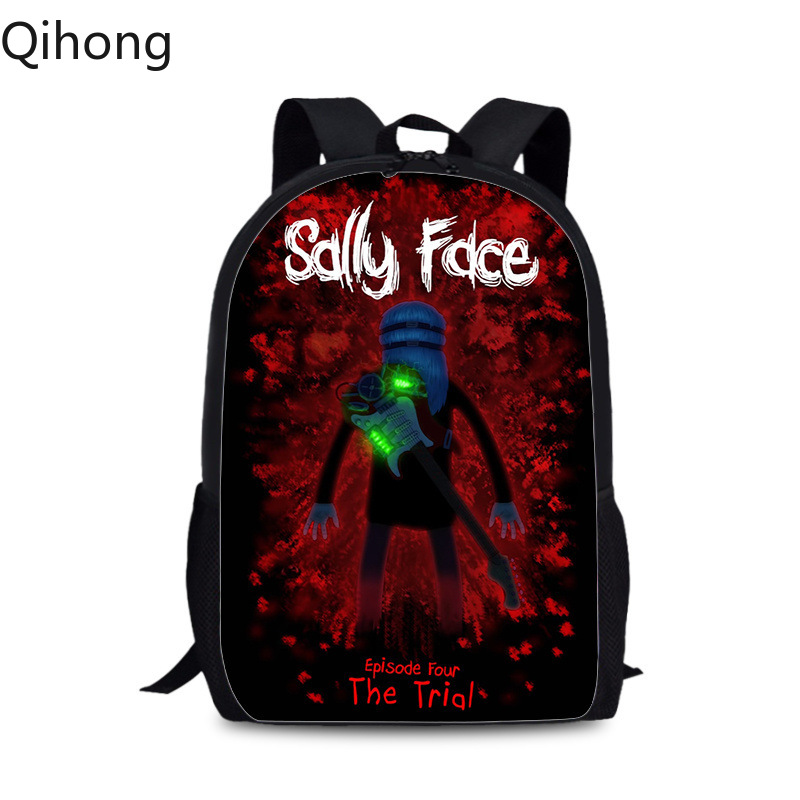 Sally Face Mochila Backpack Cartoon Galaxy Space Teenagers School Bags Women Men Laptop Backpack Travel Bagpack Kids Book Bags 9 image