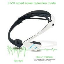 Lf-18 altavoces bluetooth 4.1 bone conducción auricular estéreo inalámbrico deportes auriculares para correr ciclismo negro/blanco