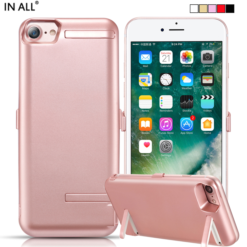 In All 10000 mAh Battery Case For iPhone 7 6s 6 Power Cover For iPhone 7 6s 6 Double Stent Charger Smart CellPhone Capa Fundas