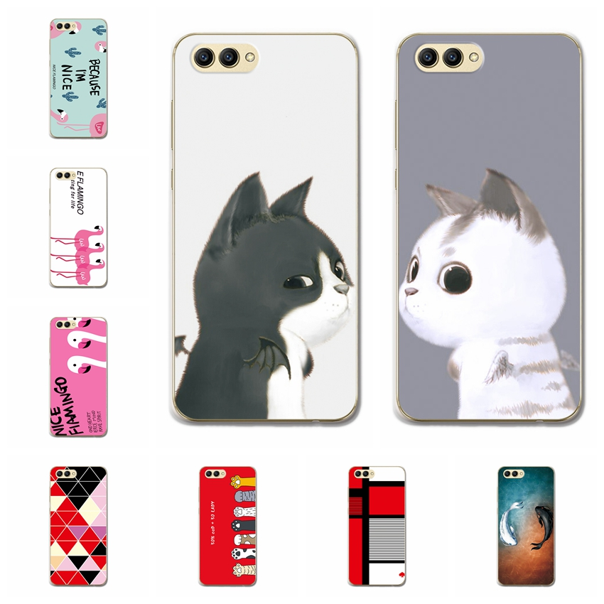 For Huawei Honor V10 Case Cover Soft TPU Bunny Patterned Back Protective Silicone Cases Huawei Honor V10 View 10 Fundas Covers
