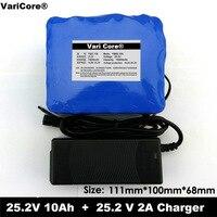 24 V 10Ah 6S5P bateria 18650 bateria de lítio 25.2 V Da bicicleta elétrica ciclomotor/elétrica/bateria de lítio-ion bateria + carregador