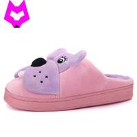 Men And Women Anti Slip Flat Shoes Soft Winter Warm Cotton Cute Doggy Slippers Winter Home