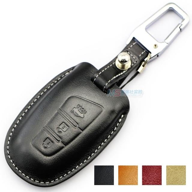 Genuine Leather car key Case for Hyundai Azera SantaFe Grand Equus ...