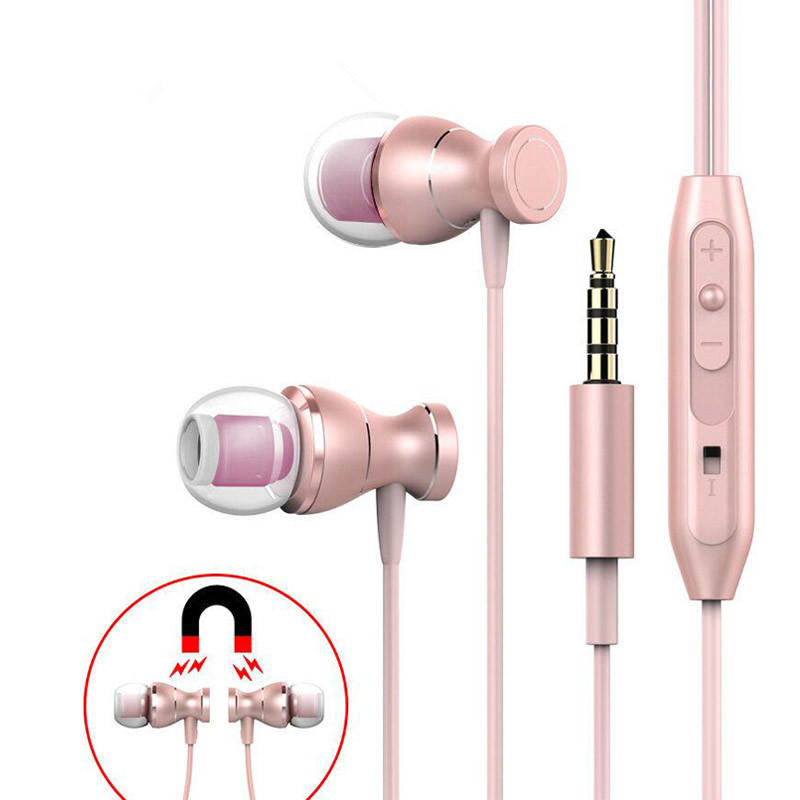 MENGYU Magnet Metal Earphone Heavy Bass Sound Anti-Sweat Sport Headset with Mic Handsfree Earbuds for iPhone Samsung Xiaomi m320 metal bass in ear stereo earphones headphones headset earbuds with microphone for iphone samsung xiaomi huawei htc