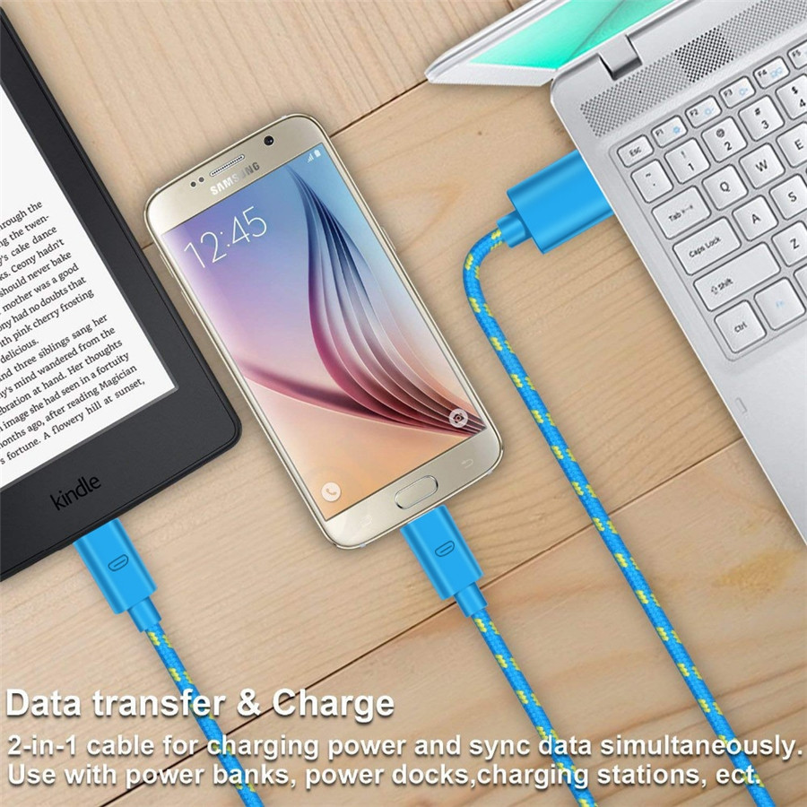 OLAF Micro USB Cable 1M 2M 3M Fast Charging Data Cord Charger Adapter For Samsung S7 Xiaomi Huawei Android Phone Microusb Cable in Mobile Phone Cables from Cellphones Telecommunications