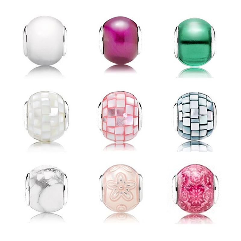 Mirror Ball Glass Material Beautiful Reflection Fashion Beautiful Female Sterling Silver Pandol Beads Can Be Diy