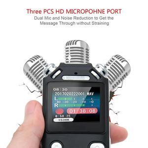 Image 2 - Grabadora de voz Digital con micrófonos dobles, grabadora de sonido inteligente con reducción de ruido, memoria USB recargable de 8GB, Mp3 y WMV