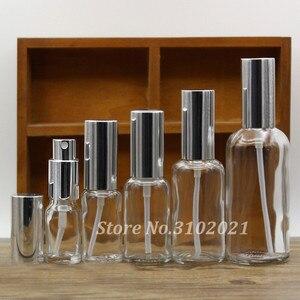Image 2 - 2/10 Stuks 5/10/15/20/30/50/100 Ml Lege Helder/Amber Glas Essentiële Olie Parfumflesje Met Spuit/Lotion Pomp Glazen Spuitfles
