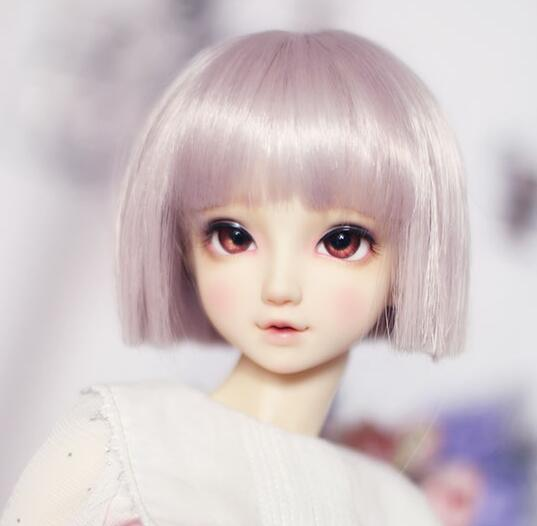 2019 New Style New 22-24cm Konjac Pink Short Hair One Knife Flat Wig 1/3 Bjd Sd Dd Doll Wig Making Things Convenient For Customers