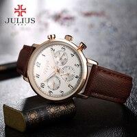 2018 Real Julius Famous Brand Sport Quartz watch Waterproof Women Watch Clock Business Relogio Feminino Fashion Women Watch