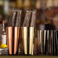 Freies Verschiffen 5 Unterschiedliche Farbe Edelstahl Boston Shaker & 16 Unze. mit/Ohne Rezept Mischen Glas Kit