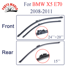 """Combo Silicone Rubber Front And Rear Wiper Blades For BMW X5 E70 2008-2011.Windscreen Wipers Car Accessories,24""""+20"""""""
