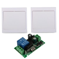 433MHz Wall Panel Transmitter 433MHz RF System Remote Control Switch Relay Receiver 1 CH Remote Control