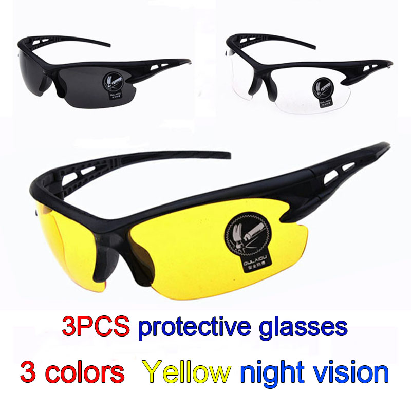 LEILIN protective glasses high quality PC Scratch scratch safety glasses 3PCS Ride movement airsoft glasses safurance protective glasses pc scratch safety ride movement wind and dust proof goggles workplace safety