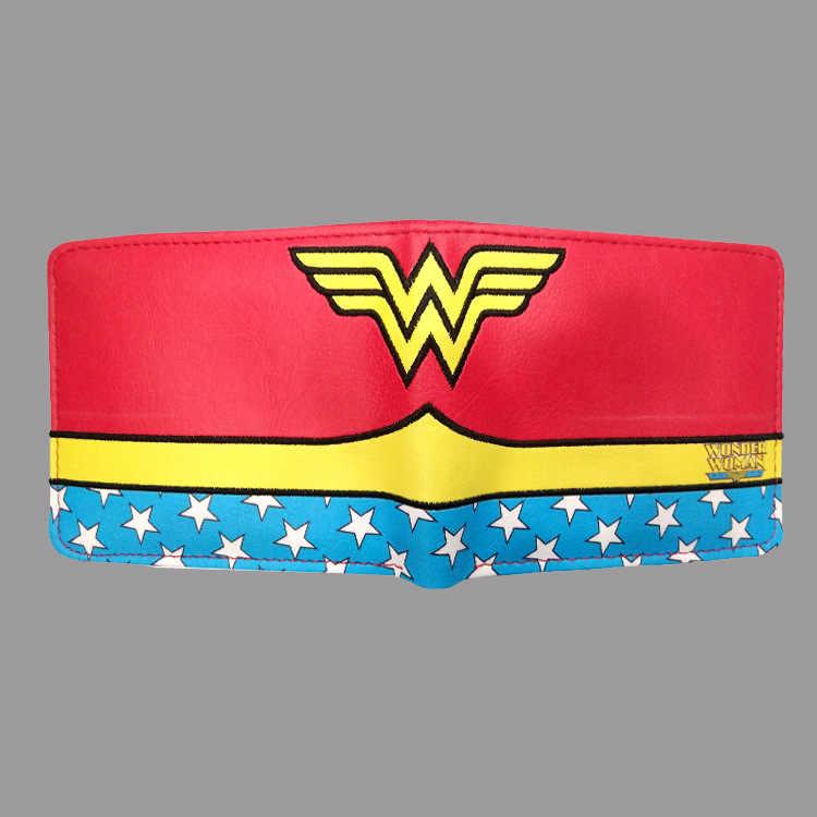 Wonder Woman Merak kadın cüzdanı Süper Kahraman Çantalar Küçük cüzdan çanta Kredi kart tutucu Eğlence Bayan Erkek pu deri cüzdan